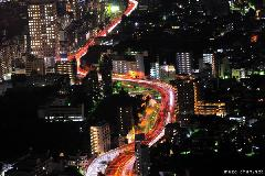 Shuto Expressway no.5 bird's-eye night view