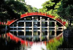 Simply beautiful Japanese scenes, Taikobashi reflection