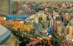 Tokyo Dome City aerial view