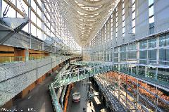 Masterpieces of Japanese architecture, Tokyo International Forum, interior wide-angle view