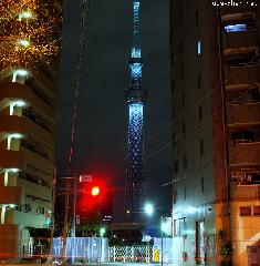 Tokyo Sky Tree Night Lighting on New Year's Eve