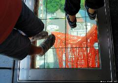 Walking on Glass Floor at Tokyo Tower