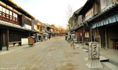 A Japanese street from 150 years ago