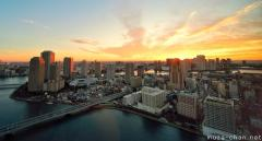 Simply beautiful Japanese scenes, Sunrise over Tsukishima
