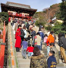 Hatsumode, the first visit to a shrine or temple