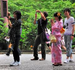 Casual Photographers in Ueno Park