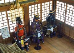 Samurai armors at Uwajima Castle
