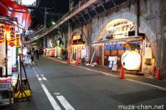 Shimbashi old fashioned street night view