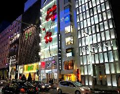 Ginza by night, jewelry stores