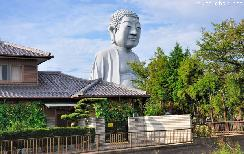 Unusual statue, Hotei Daibutsu from Konan City