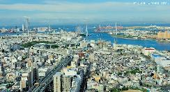 Osaka Bay, spectacular bird's-eye view