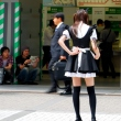 Maid in front of JR Akihabara station