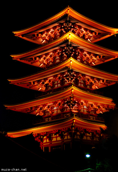 Five Story Pagoda at Senso-ji Temple