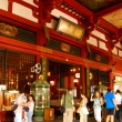 Interior main hall at Senso-ji Temple