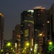 Shiodome at night, view from Ginza