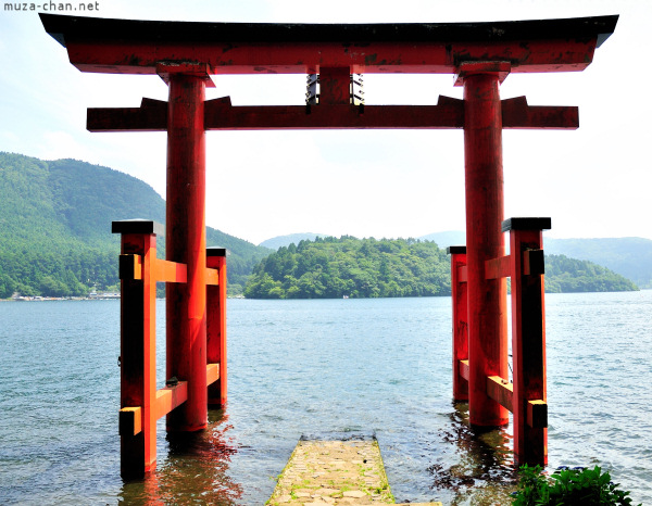 Torii on Lake Ashi, Hakone Shrine, Hakone
