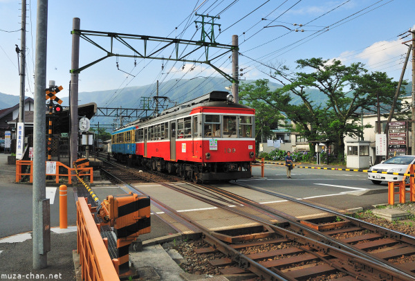 Hakone Tozan train, series 'Moha 2', at Gora