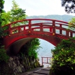 Bridge at Hakone Shrine