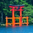 Torii on Lake Ashi, at Hakone Shrine
