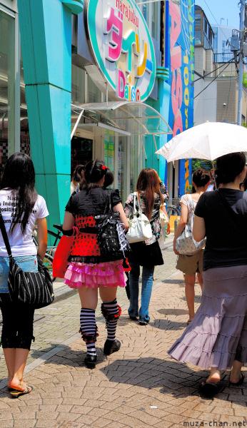 100-yen Shopping on Takeshita Dori, Harajuku, Tokyo