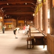 Interior of main hall at Meiji Jingu