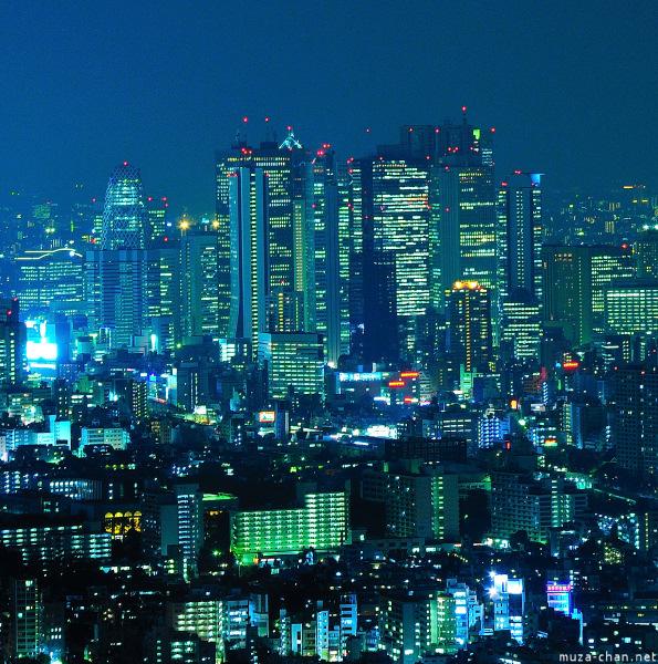Shinjuku high-rise, view from Sunshine City