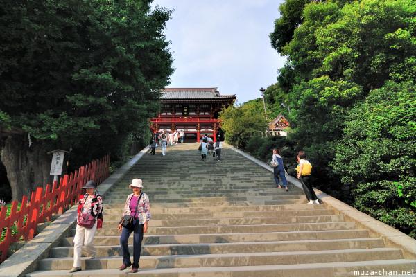 Temple Stairs in Kamakura, Tsurugaoka Hachimangu