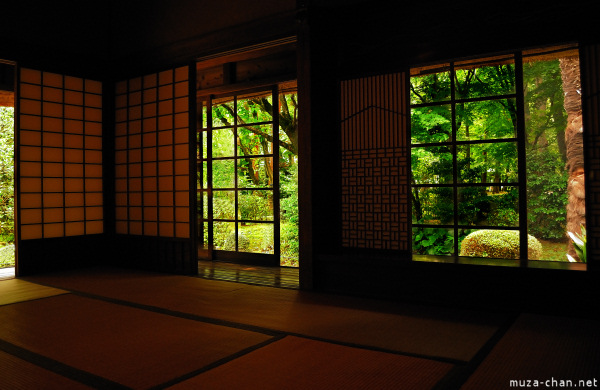 Japanese house, interior, at Edo Tokyo Open Air Museum