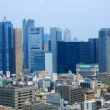 Aerial view of Shiodome as seen from Tokyo Tower