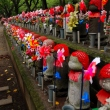 Jizo statues at  Zojo-ji Temple