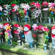 Jizo statues at the Zojo-ji Temple