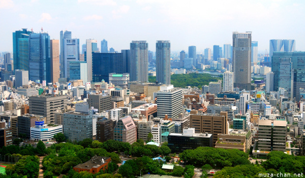 Shiodome seen from Tokyo Tower, Tokyo