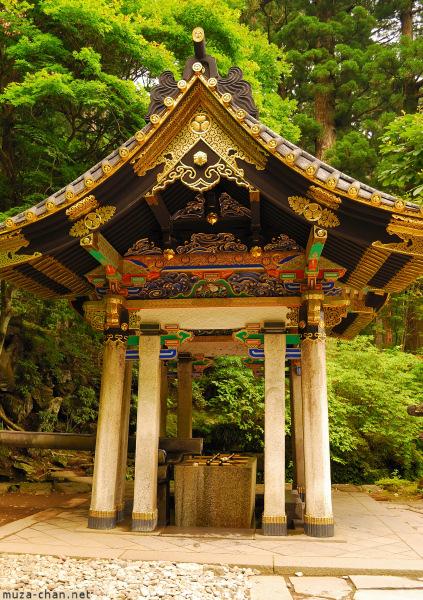 Sacred fountain at Mausoleum Rinno-ji Taiyuin, Nikko