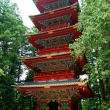 The Five Storied Pagoda on the left of Ishidorii (Stone Gate) at Toshougu Shrine