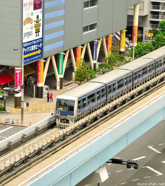 Yurikamome train near Aqua City, Odaiba, Tokyo