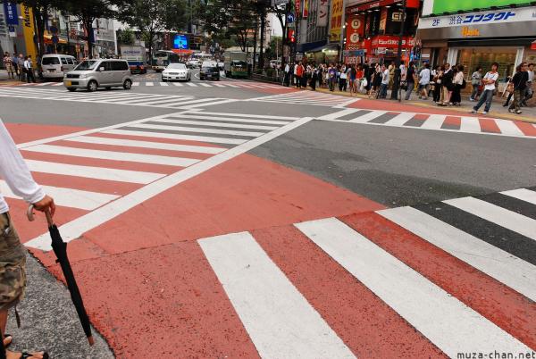 Scramble crossing in Shibuya, Tokyo