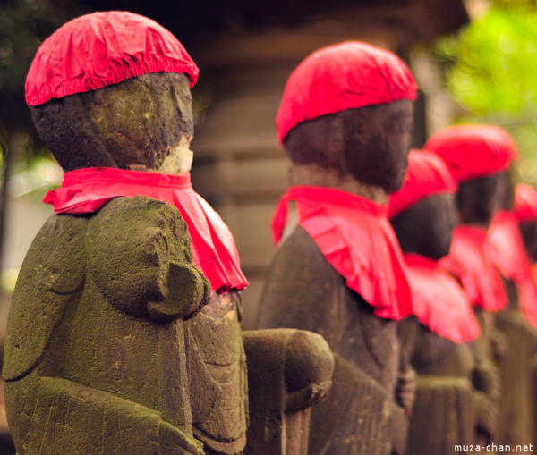 Jizo statues at Kanei-ji Temple