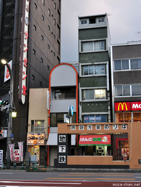 Narrow Buildings in Ueno